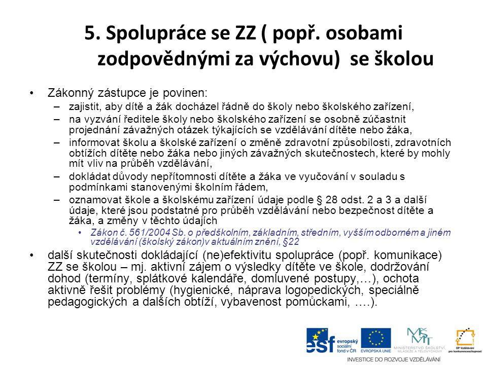5.Spolupráce se ZZ ( popř.