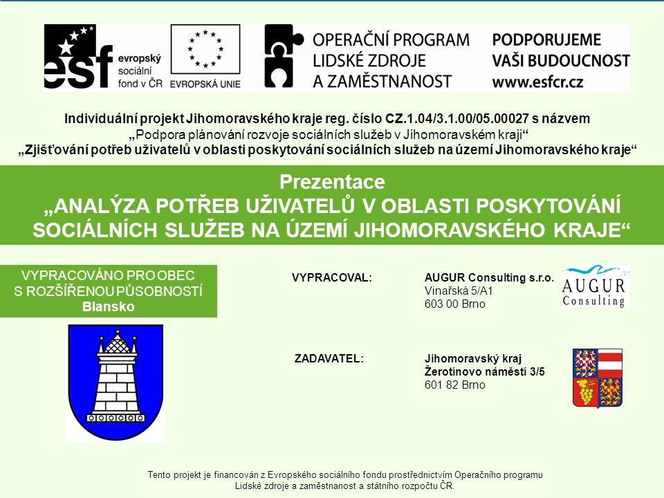 POPIS A CÍLE PROJEKTU Zadavatelem projektu je Jihomoravský kraj.