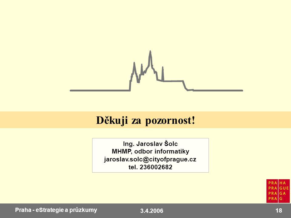 3.4.2006 18 Praha - eStrategie a průzkumy Děkuji za pozornost.