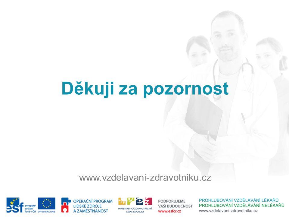 Děkuji za pozornost www.vzdelavani-zdravotniku.cz