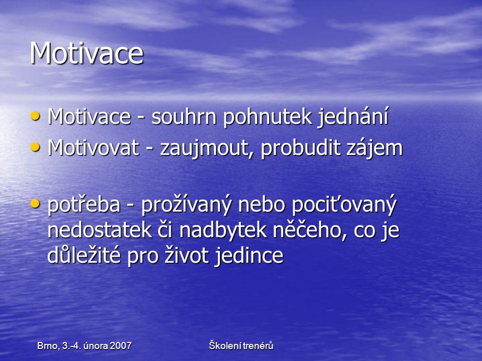 Školení trenérůBrno, 3.-4.