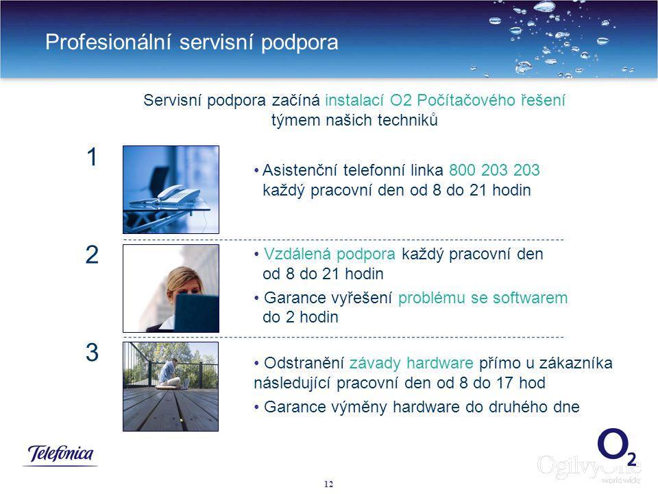 12 Profesionální servisní podpora Asistenční telefonní linka 800 203 203 každý pracovní den od 8 do 21 hodin Vzdálená podpora každý pracovní den od 8