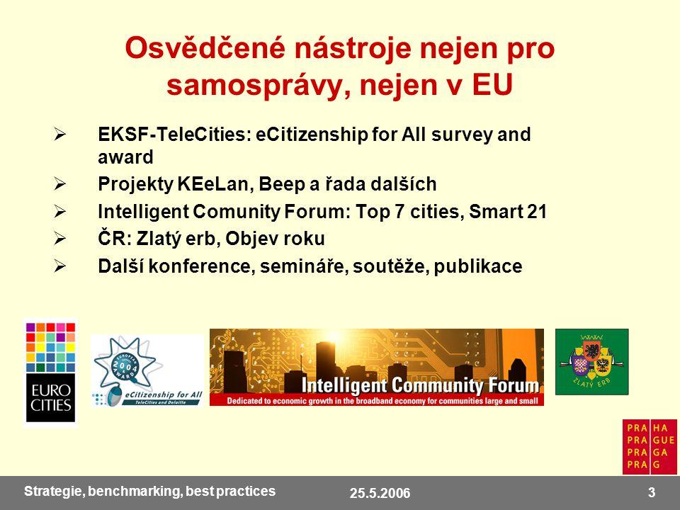 25.5.2006 24 Strategie, benchmarking, best practices Nahlédněte sami… www.praha-mesto.cz rubrika MĚSTO / PRAHA / Informační společnost Inf.