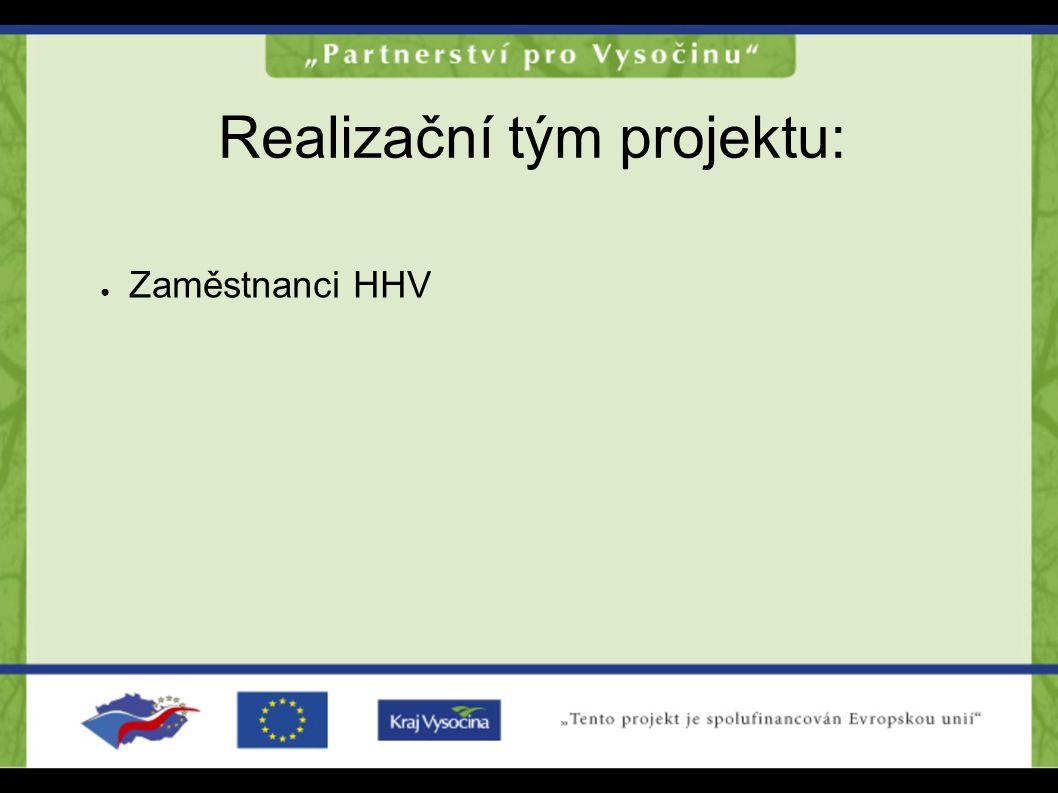 Realizační tým projektu: ● Zaměstnanci HHV