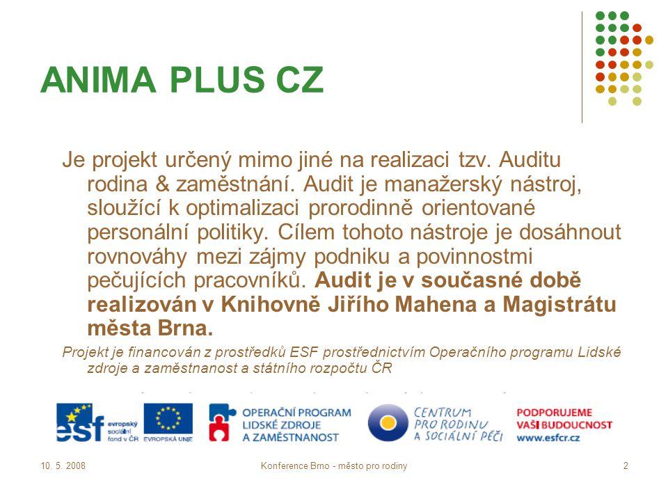 10.5. 2008Konference Brno - město pro rodiny13 1.