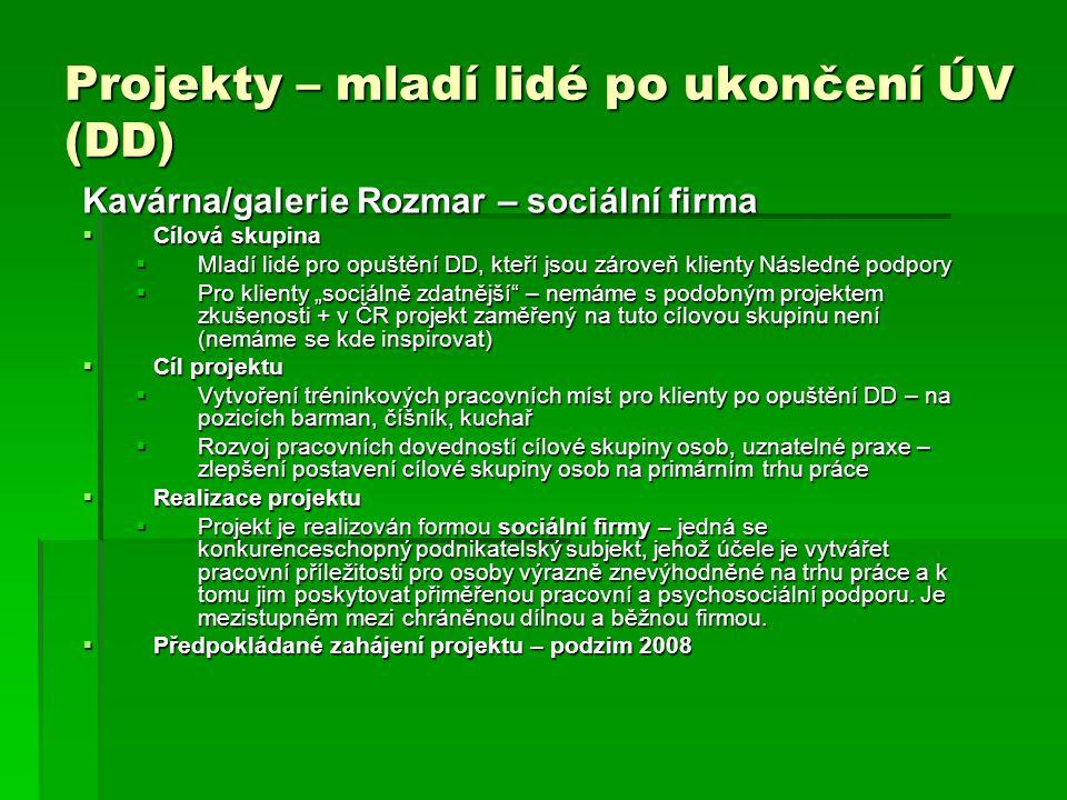 Zdroje financování  Nadace Terezy Maxové  Nadace Vodafone  ČNA Mládež  Garris, a.s.