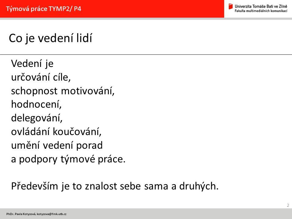 13 PhDr.Pavla Kotyzová, kotyzova@fmk.utb.cz 1.