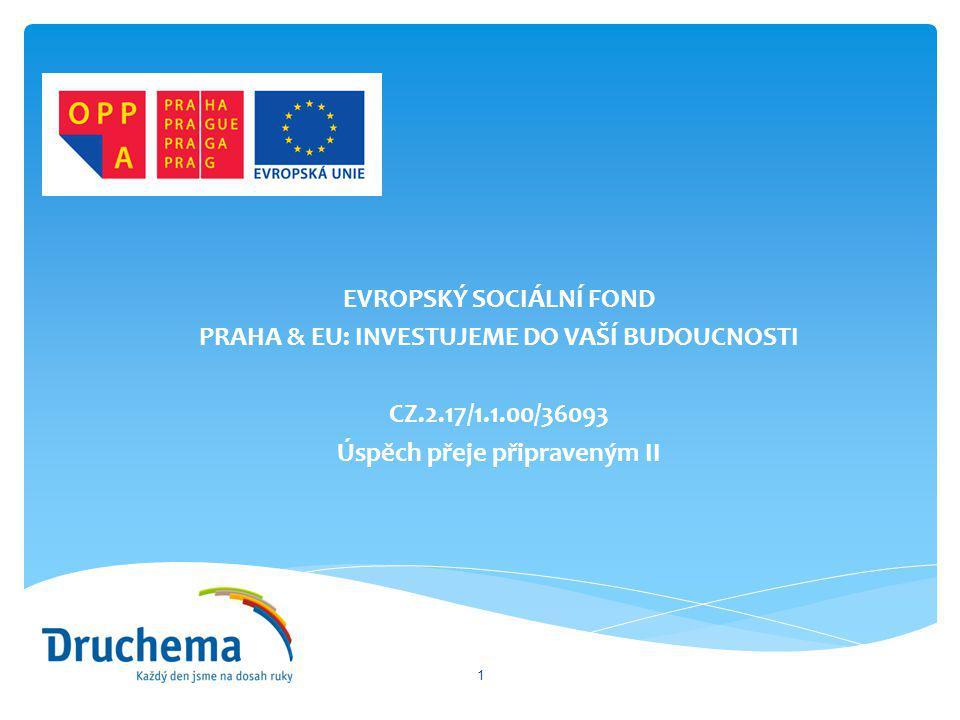EVROPSKÝ SOCIÁLNÍ FOND PRAHA & EU: INVESTUJEME DO VAŠÍ BUDOUCNOSTI CZ.2.17/1.1.00/36093 Úspěch přeje připraveným II 1