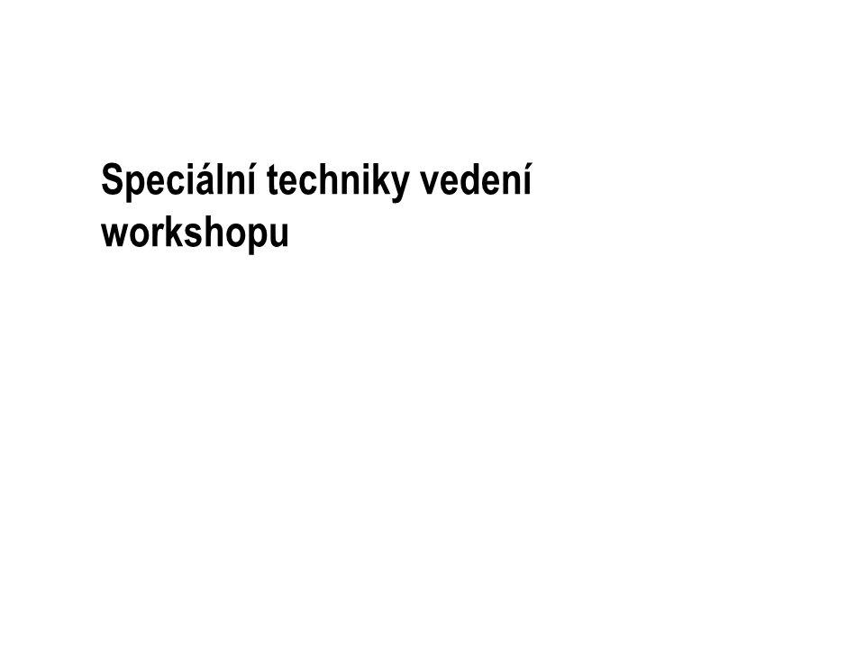 Speciální techniky vedení workshopu