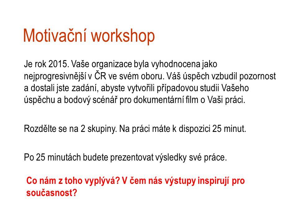 Motivační workshop Je rok 2015.