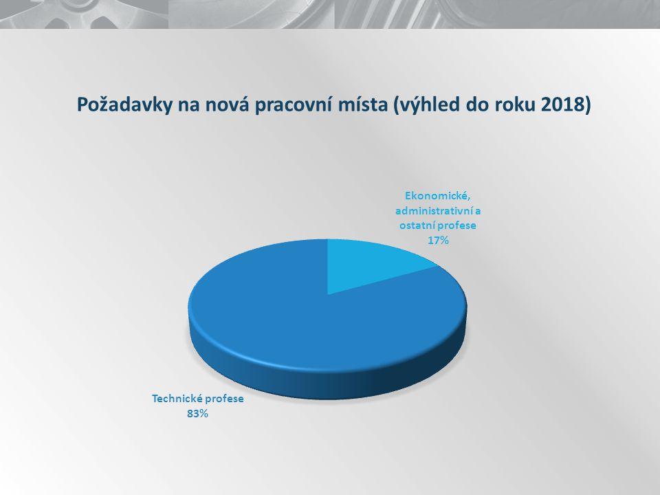 Požadavky na nová pracovní místa (výhled do roku 2018)