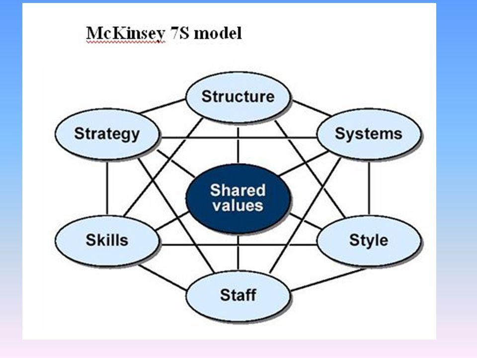 Model 7S model v sobě zahrnuje 7 základních faktorů (aspektů), které vzájemně podmiňují, ovlivňují a rozhodují o tom, jak bude firemní strategie naplněna.