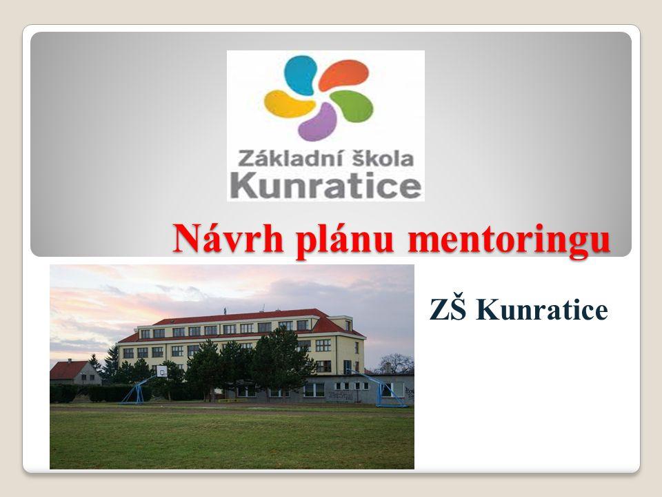 Návrh plánu mentoringu ZŠ Kunratice