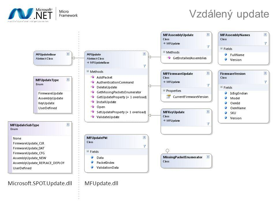 Invent the future of small intelligent devices here. Vzdálený update MFUpdate.dllMicrosoft.SPOT.Update.dll