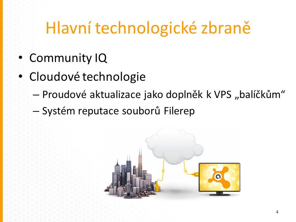 Hlavní technologické zbraně Rezidentní štíty Boot-time scan Sandbox Autosandbox Safezone Firewall 5