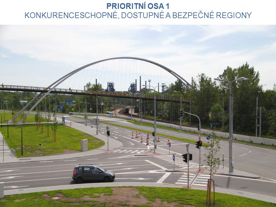 Silnice - alokace 945 062 951 EUR (20,4 % z IROP) Rekonstrukce, modernizace, popř.