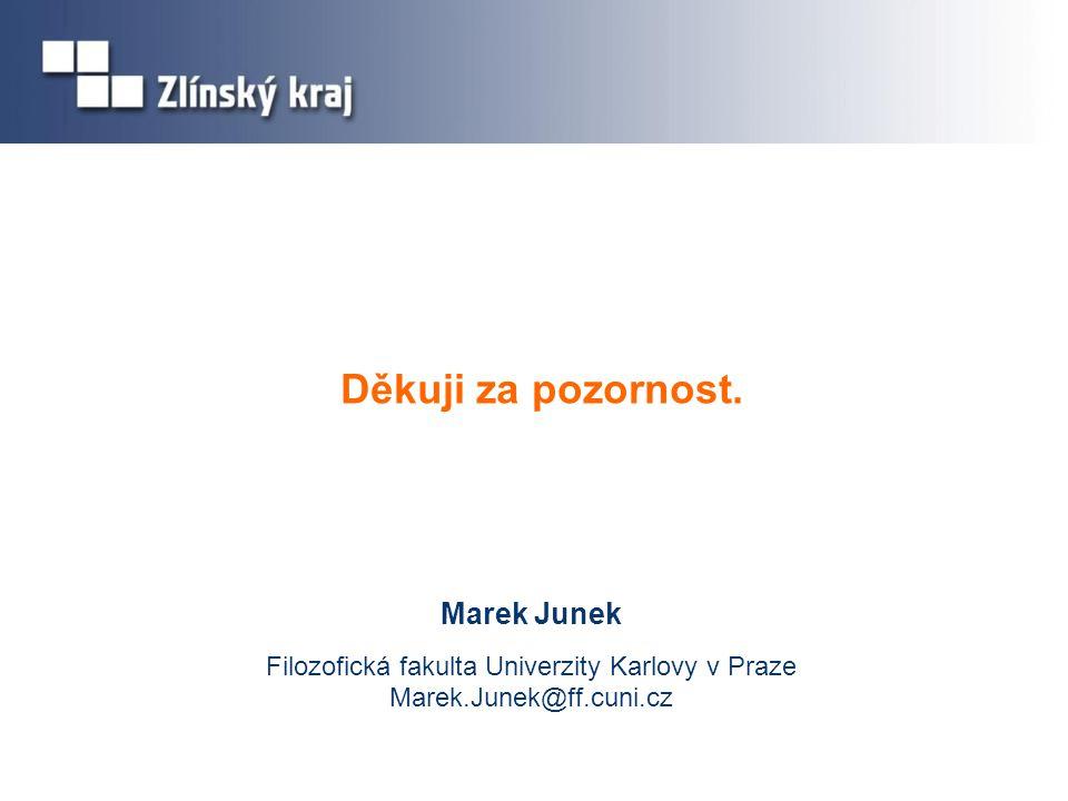 Děkuji za pozornost. Marek Junek Filozofická fakulta Univerzity Karlovy v Praze Marek.Junek@ff.cuni.cz