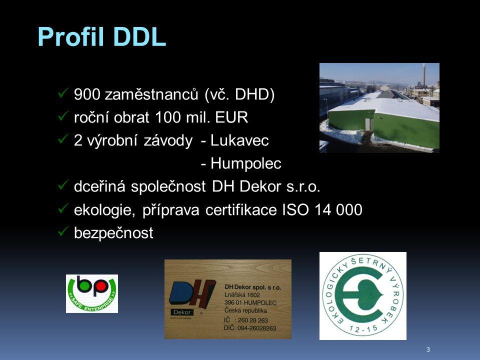 3 Profil DDL 900 zaměstnanců (vč. DHD) roční obrat 100 mil.