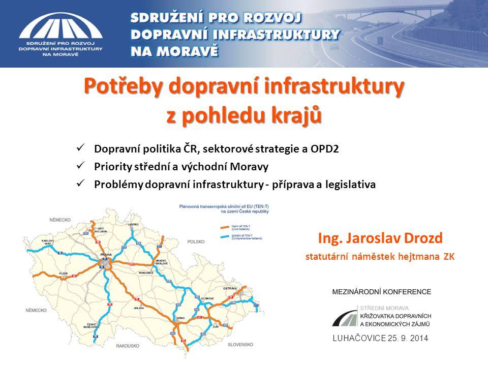 Dopravní politika ČR a sektorové strategie 2 Máme nástroje k naplnění skutečných potřeb rozvoje dopravní infrastruktury ve srovnání s vyspělou Evropou ??.