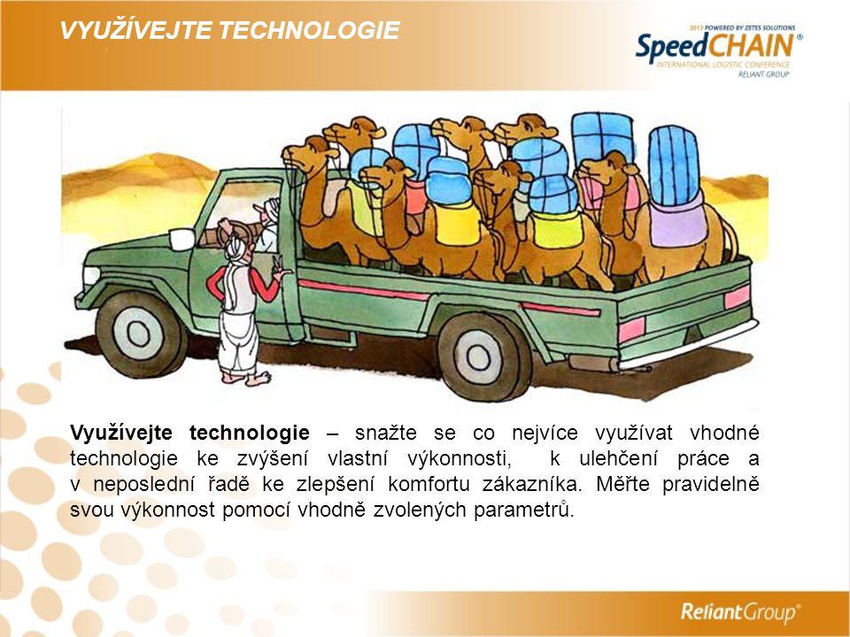 VYUŽÍVEJTE TECHNOLOGIE – PRŮZKUM DSV 2012 Co má (kromě ceny) největší vliv na výběr poskytovatele logistiky.