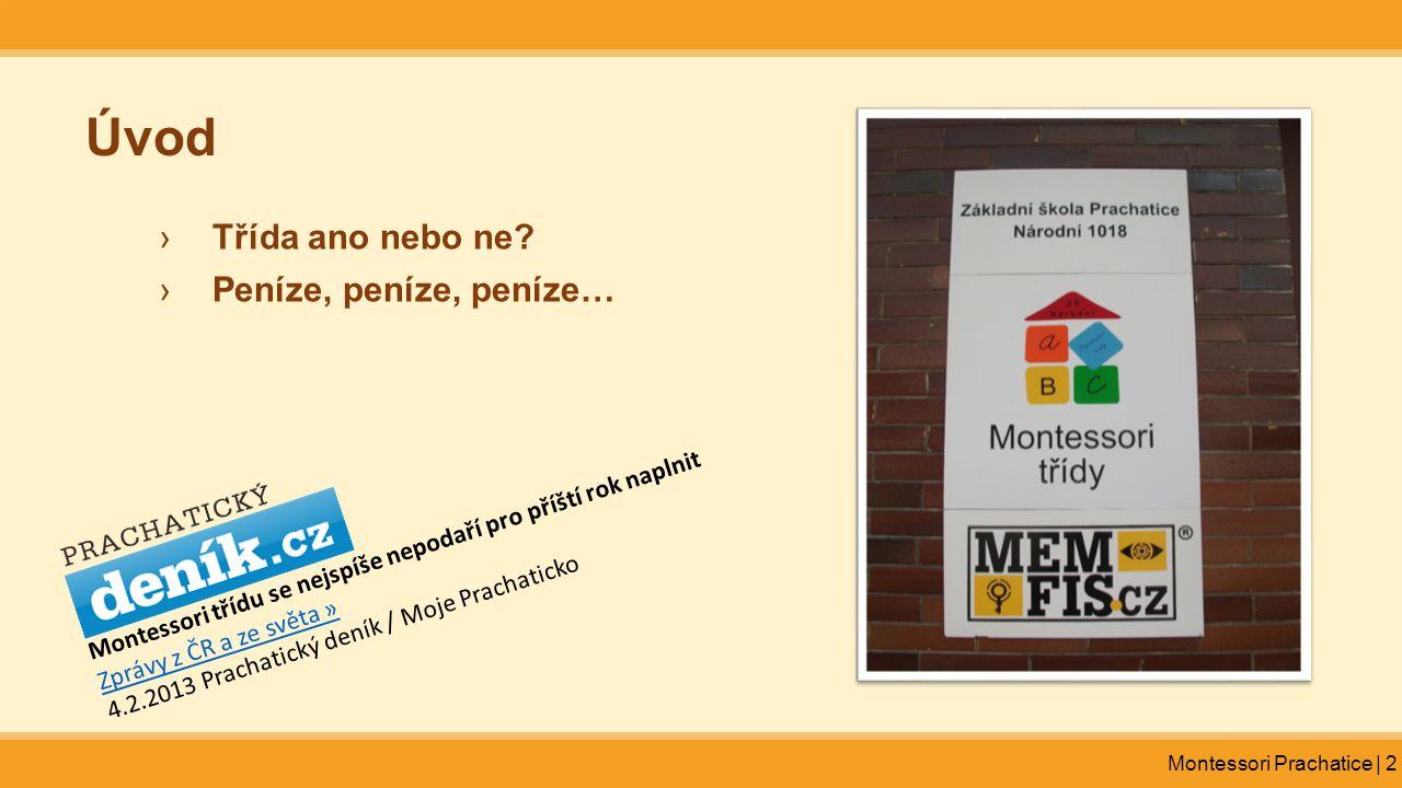 Montessori Prachatice | 2 Úvod ›Třída ano nebo ne? ›Peníze, peníze, peníze… Montessori třídu se nejspíše nepodaří pro příští rok naplnit Zprávy z ČR a