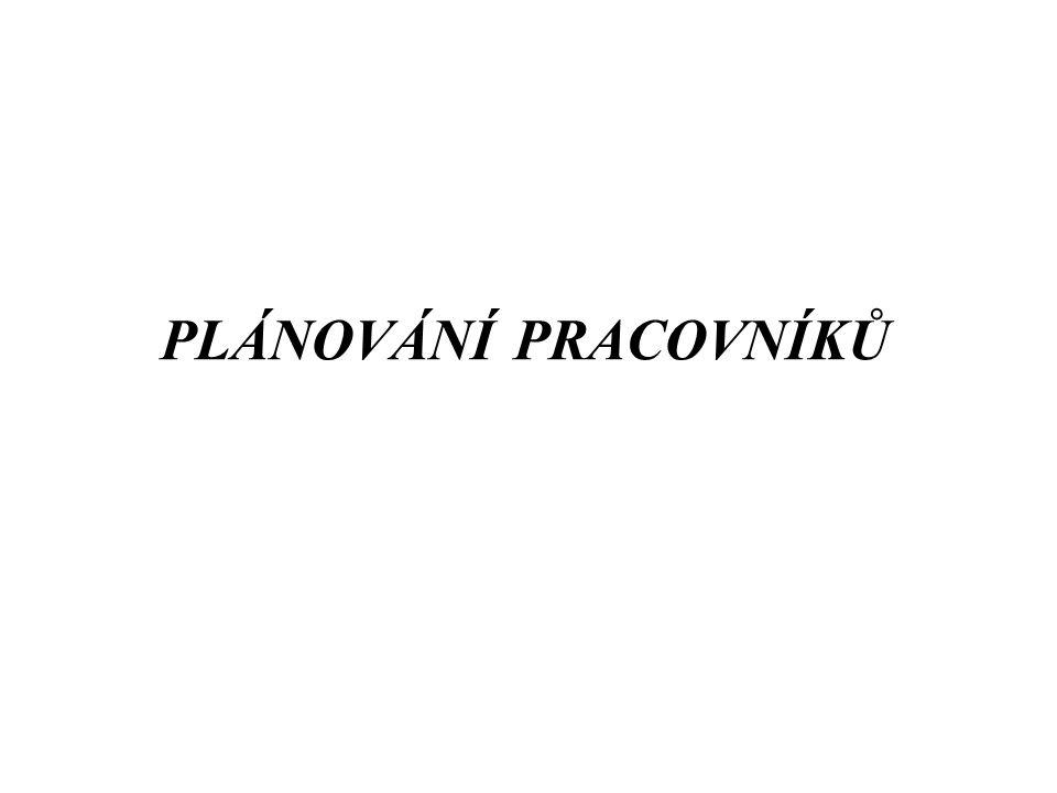 PLÁNOVÁNÍ PRACOVNÍKŮ