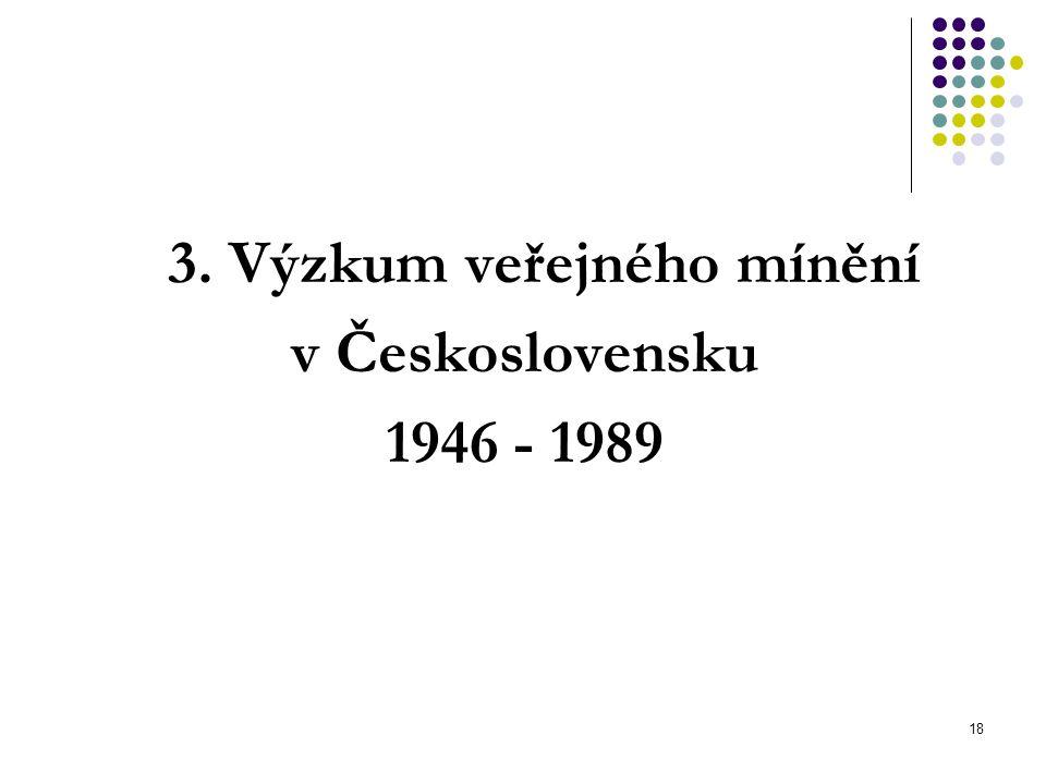 18 3. Výzkum veřejného mínění v Československu 1946 - 1989