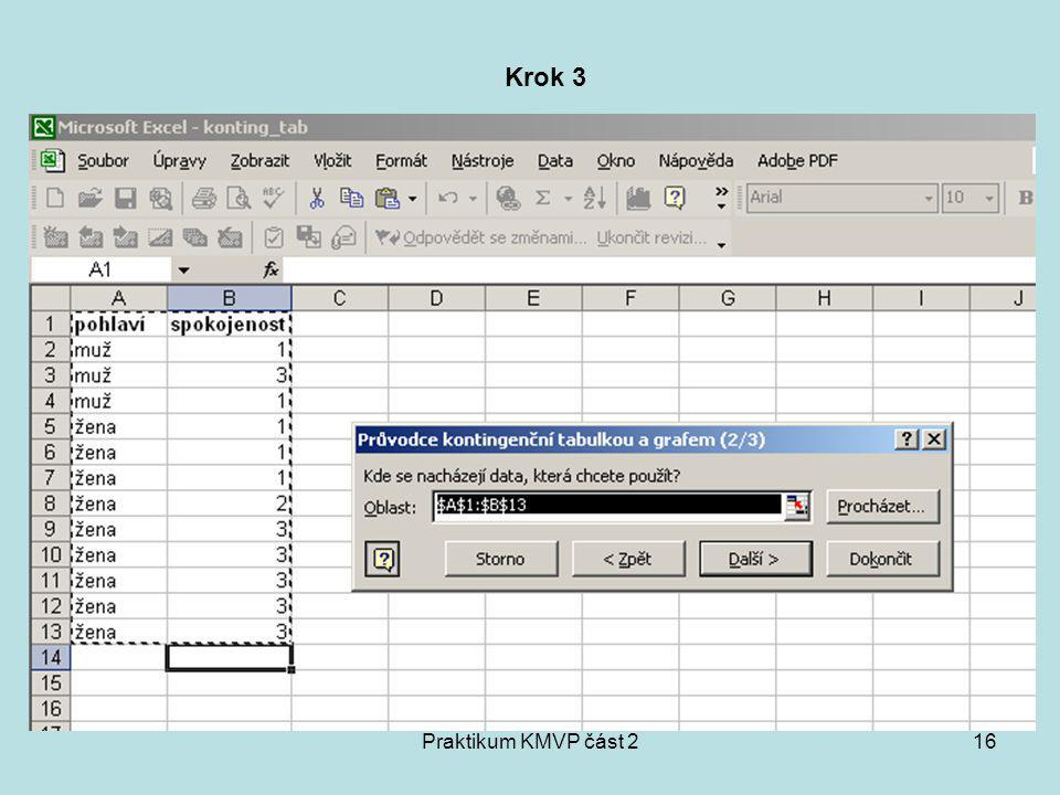 Praktikum KMVP část 216 Krok 3