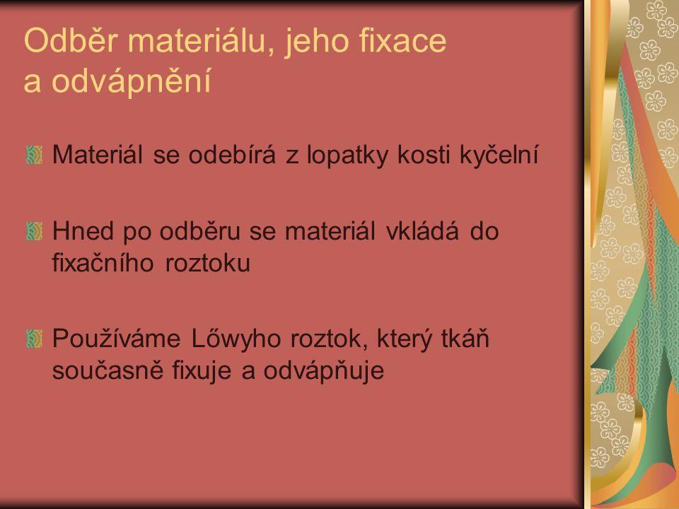 Příprava Lőwyho roztoku Postup přípravy: 20g chloridu rtuťnatého rozpustíme v 60ml vařící destilované vody.