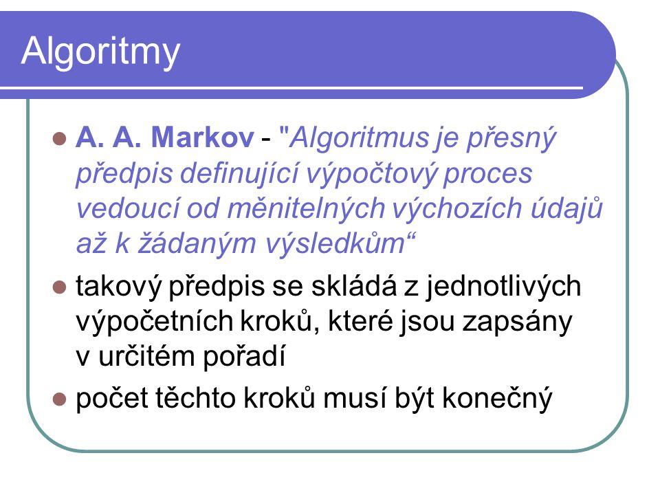 Algoritmy A. A. Markov -