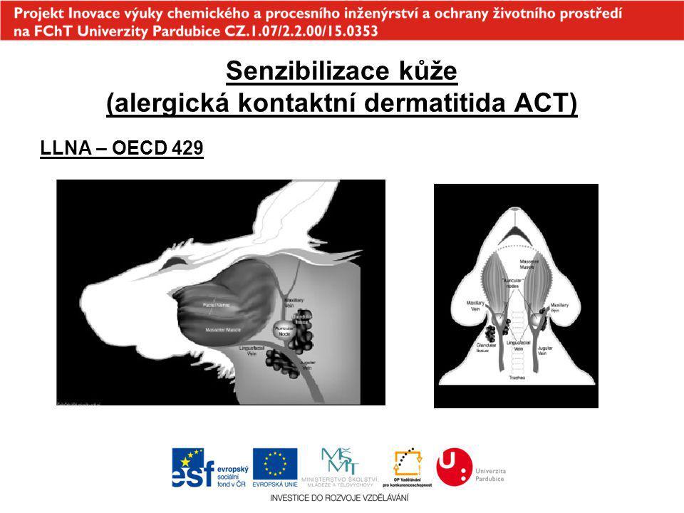 Senzibilizace kůže (alergická kontaktní dermatitida ACT) LLNA – OECD 429