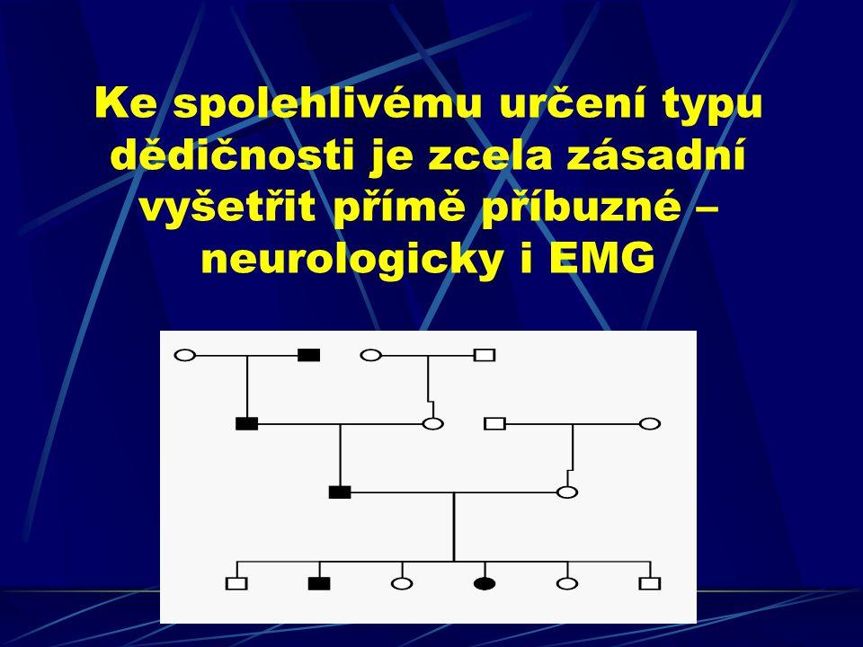 Pacient CMT - DNA HMSNHMN HSN HSP22HSP27 typ Ityp II Cx32 MPZ Cx32 MPZ PMP22 diagnostika výzkum MFN2 GDAP1 CMT1A/HNPP SIMPLE NEFL LMNA PRX EGR2 RAB7 (exon 4) SPTLC1 (exon 5)