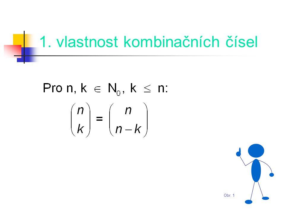 1. vlastnost kombinačních čísel Obr. 1