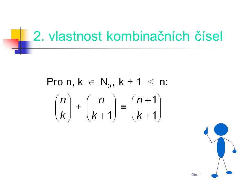 Hodnoty některých kombinačních čísel U kombinačních čísel platí: Obr. 1