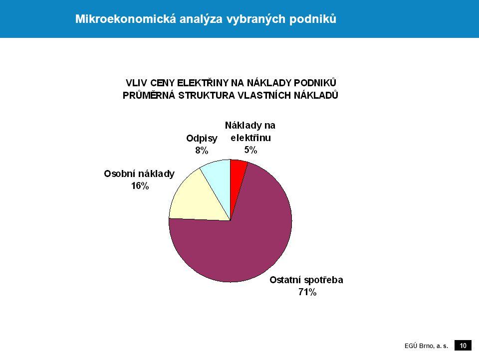 10 EGÚ Brno, a. s. Mikroekonomická analýza vybraných podniků