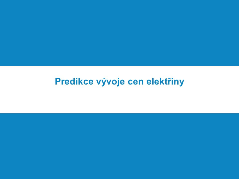 Predikce vývoje cen elektřiny