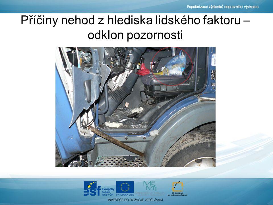 Popularizace výsledků dopravního výzkumu Příčiny nehod z hlediska lidského faktoru – odklon pozornosti