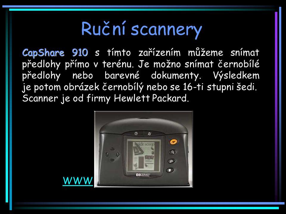 Ruční scannery CapShare 910 CapShare 910 s tímto zařízením můžeme snímat předlohy přímo v terénu.