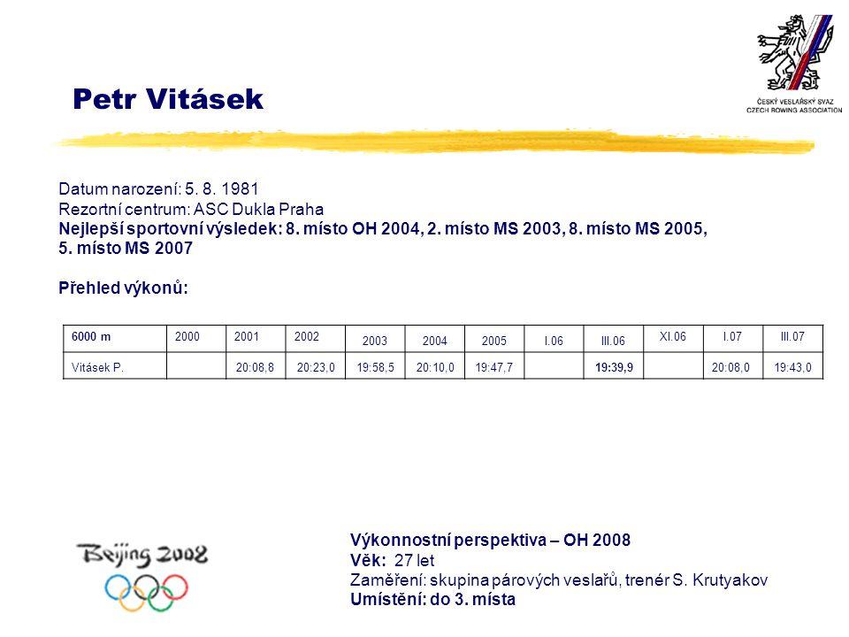 Petr Vitásek Datum narození: 5. 8.