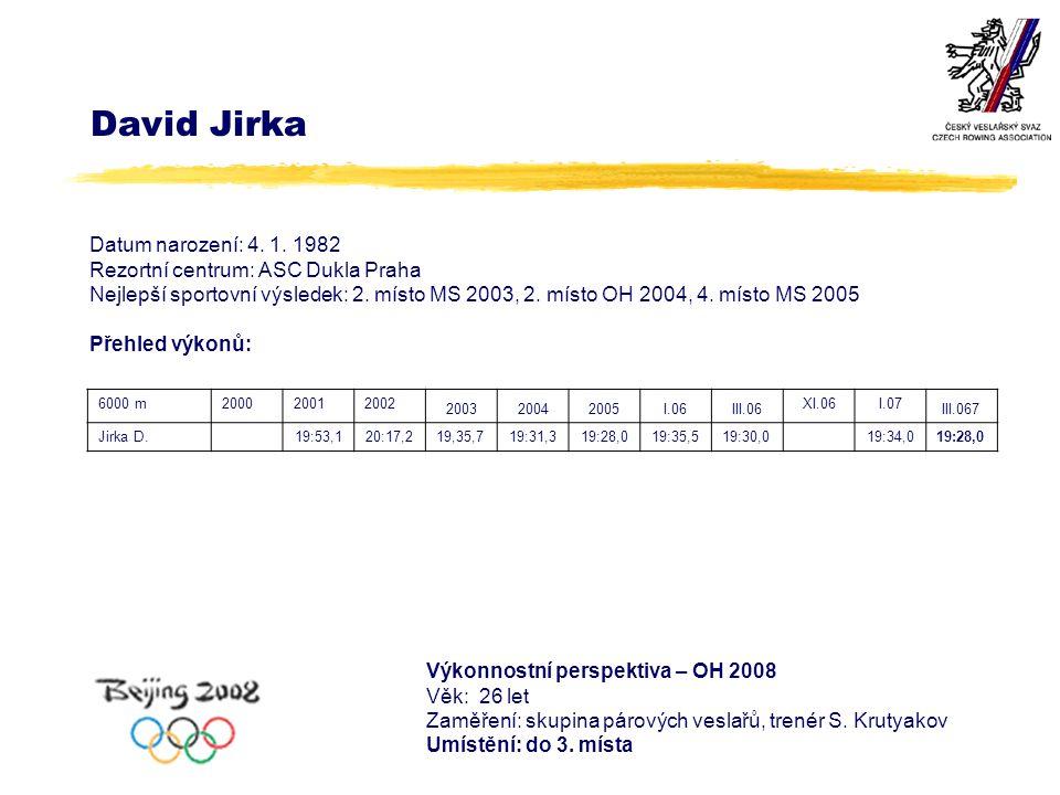 David Jirka Datum narození: 4. 1.