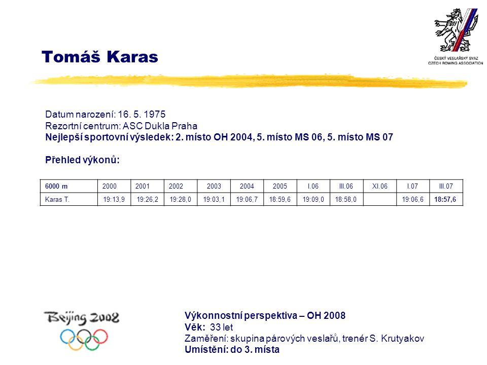 Tomáš Karas Datum narození: 16. 5.