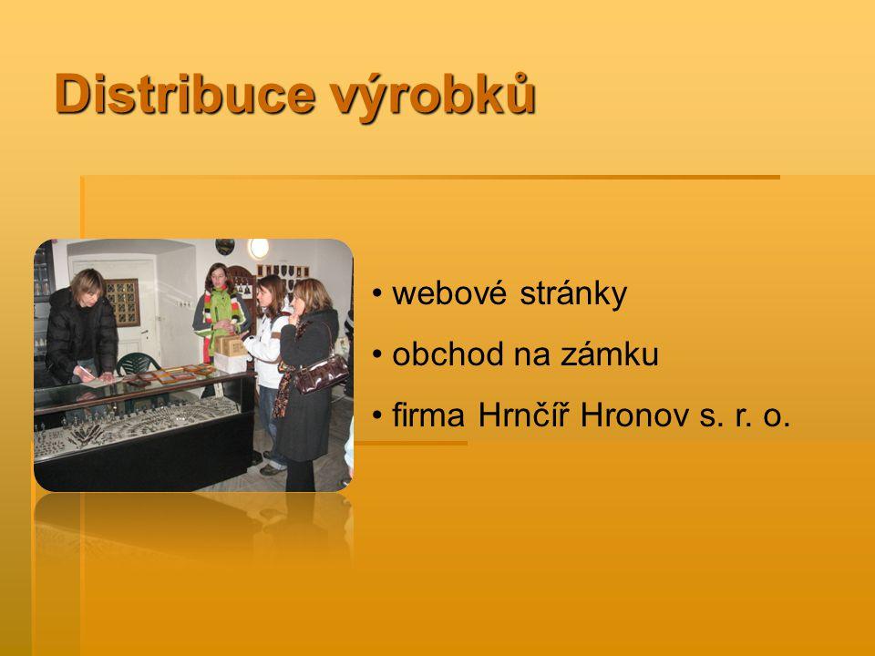 Distribuce výrobků webové stránky obchod na zámku firma Hrnčíř Hronov s. r. o.