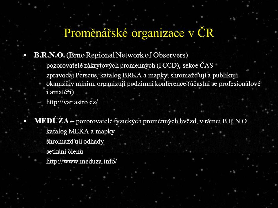 Proměnářské organizace v ČR B.R.N.O.