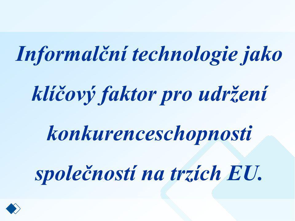 Informalční technologie jako klíčový faktor pro udržení konkurenceschopnosti společností na trzích EU.