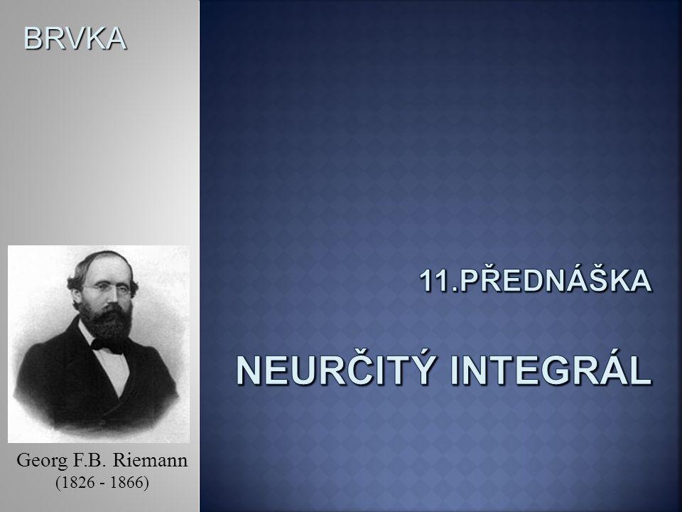 BRVKA Georg F.B. Riemann (1826 - 1866)