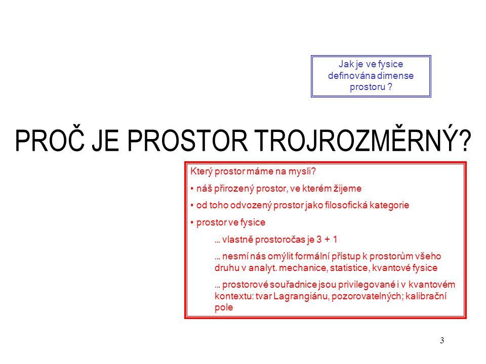 24 ČÁST II.FYSIKA V PROSTORU E n  R n Geometrie R n.