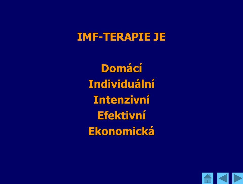 IMF-TERAPIE JE DomácíIndividuálníIntenzivníEfektivníEkonomická