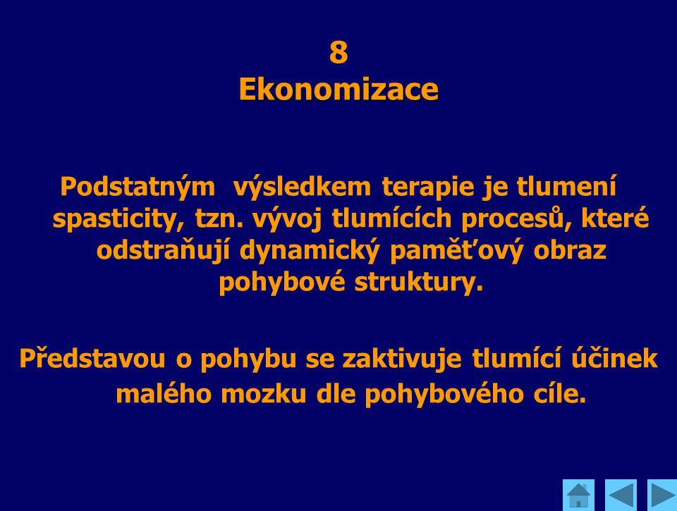 Ekonomizace 8 Ekonomizace Podstatným výsledkem terapie je tlumení spasticity, tzn. vývoj tlumících procesů, které odstraňují dynamický paměťový obraz