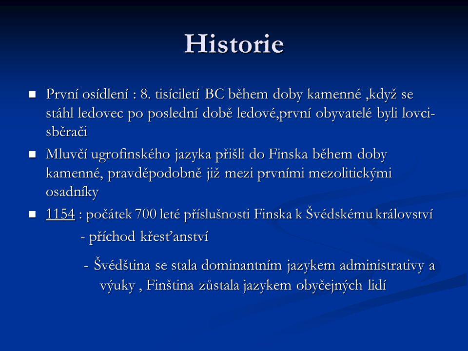 Historie První osídlení : 8.
