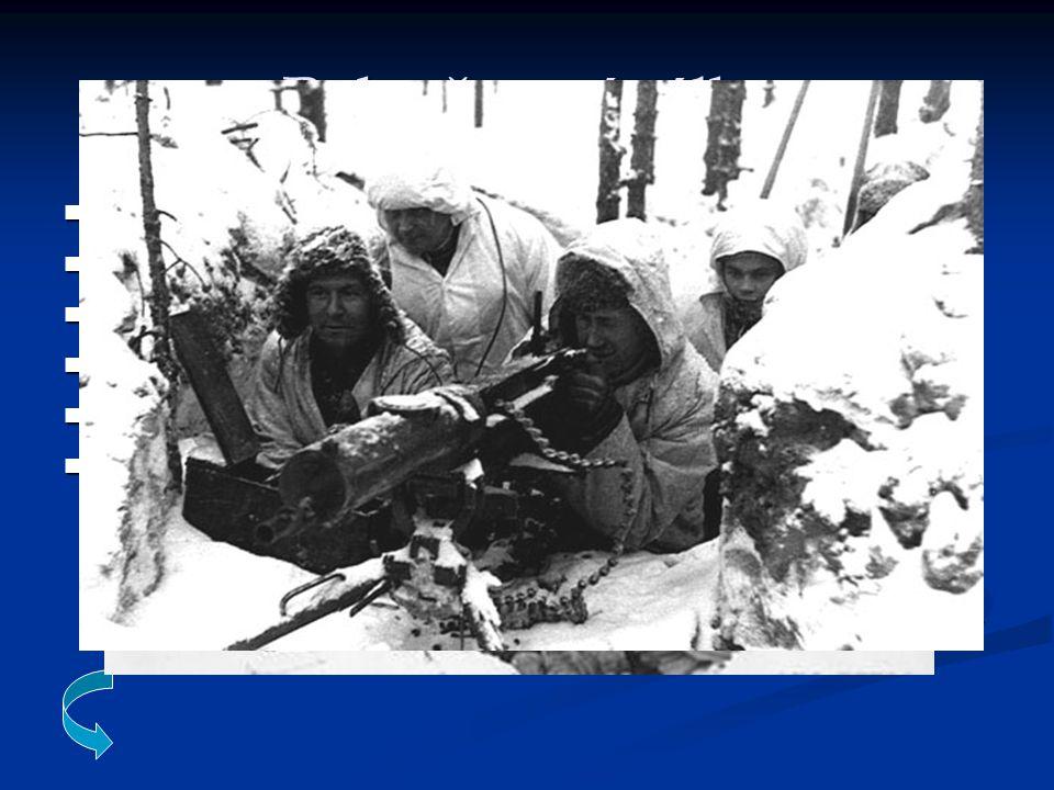 Pokračovací válka Navazující konflikt na Zimní válku v letech 1941-1944 Navazující konflikt na Zimní válku v letech 1941-1944 Finsko zčásti podporované nacistickým Německem Finsko zčásti podporované nacistickým Německem Zahájení války : Německý útok z Finského území na SSSR Zahájení války : Německý útok z Finského území na SSSR Primární cíl Finska : získat nezávislost a svobodu vůči SSSR Primární cíl Finska : získat nezávislost a svobodu vůči SSSR Sekundární cíl : získat zpět ztracená území během Zimní války Sekundární cíl : získat zpět ztracená území během Zimní války Výsledek války : nezávislost Finska se podařilo vybojovat avšak ztracená území zůstala SSSR Výsledek války : nezávislost Finska se podařilo vybojovat avšak ztracená území zůstala SSSR příměří : 5.